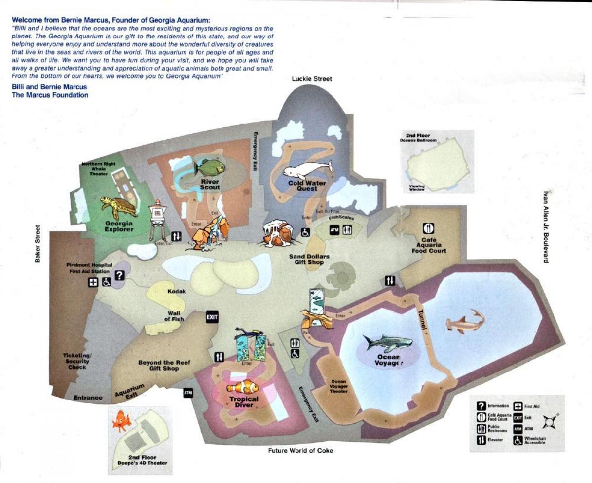 Atlanta Akvaario Kartta Georgia Akvaario Kartta Yhdysvallat